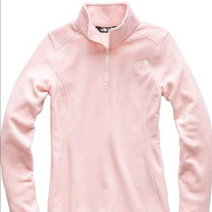 North Face Quarter Zip Light Pink